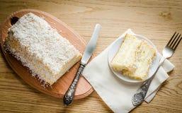 Angel Food Cake blanco Fotografía de archivo