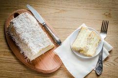 Angel Food Cake blanco Foto de archivo libre de regalías