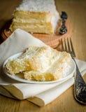 Angel Food Cake blanco Imágenes de archivo libres de regalías
