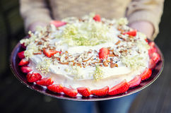 Angel food cake Royalty Free Stock Images