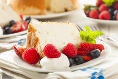Angel Food Cake hecho en casa Imágenes de archivo libres de regalías