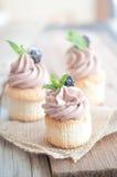 Angel Food Cupcakes Stockbilder