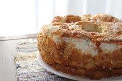 Angel food dessert cake Royalty Free Stock Images