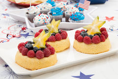 Angel Food Fruit Cake arkivbild