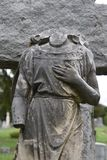 Headless Angel found in Oakwood Cemetery in Fort Worth Texas royalty free stock image