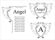 Angel Frame Royalty Free Stock Images