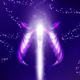 Angel  futuristic background Royalty Free Stock Photo