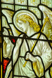 Angel Gabriel Stained Glass Window Immagine Stock