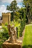Angel in Garden Stock Photo