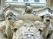 Angel gargoyles. At Chambord castle, France Royalty Free Stock Images