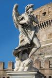 Angel by Gian Lorenzo Bernini , Rome. Angel with the Superscription, one of the ten Gian Lorenzo Bernini angels on the Sant`Angelo bridge, Rome, Italy stock photo