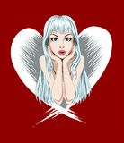 Angel girl royalty free illustration