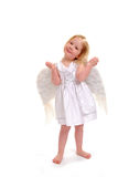 Angel Girl. A three year old girl with angel wings Stock Photo