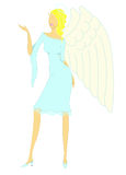 Angel girl. On white background Royalty Free Stock Photo