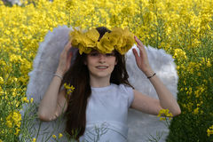 Angel Girl Imagen de archivo libre de regalías