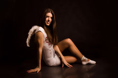 Angel girl in the dark Stock Photo