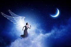 Angel girl in dress royalty free stock image