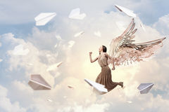 Angel girl in dress Royalty Free Stock Photography