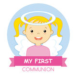 Angel girl. My first communion Stock Image
