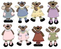 Angel Girl Teddy Bears 2 Stock Image