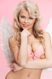 Angel girl in underwear and wings Stock Photos