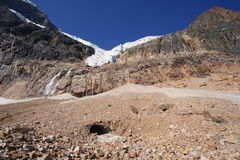 Angel Glacier with Ice Cave Royalty Free Stock Photo