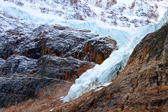 Angel Glacier Jasper National Park stock photo