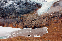 Angel Glacier Jasper National Park stock images