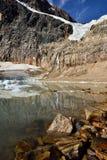 Angel Glacier Mount Edith Cavell Arkivfoto