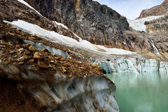 Angel Glacier Mount Edith Cavell Royaltyfri Foto