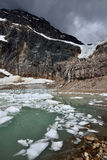 Angel Glacier Mount Edith Cavell Stock Afbeeldingen