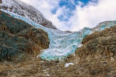 Angel Glacier.Mount Edith Cavell.Jasper National Park. Alberta.Canada royalty free stock photos
