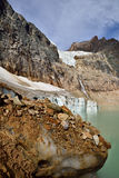 Angel Glacier Mount Edith Cavell. Landscape featuring Angel Glacier from Mount Edith Cavell. Jasper National Park royalty free stock images