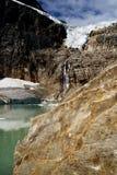 Angel Glacier Mount Edith Cavell. Landscape featuring Angel Glacier from Mount Edith Cavell. Jasper National Park stock photos