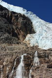 Angel Glacier and Waterfall Stock Photos