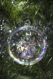 Angel glass Christmas tree bauble decoration Stock Images