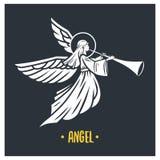 Angel god. Vector illustration. vector illustration