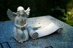 Angel on the grave. Royalty Free Stock Photography