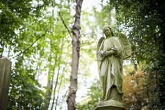 Angel Grave Sculpture in Cemetery - 5 Royalty Free Stock Image