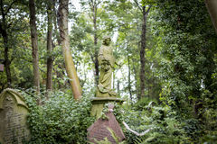 Angel Grave Sculpture in Cemetery - 7 Stock Photography