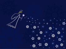 Angel greeting card Stock Photography