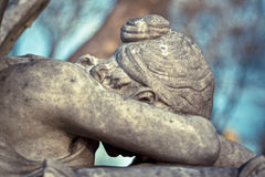 Angel of Grief Statue. Head shot of Angel of Grief cemetery statue Royalty Free Stock Images