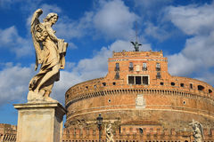 Angel on guard of Rome Stock Photography