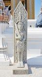 Angel Guardian empiedra la estatua en Wat Phrabuddhabat, Saraburi, tailandés Imágenes de archivo libres de regalías