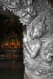 Angel Guardian fez da igreja budista de prata foto de stock royalty free