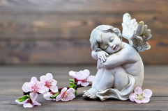 Angel guardian sleeping Royalty Free Stock Photo