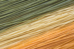 Angel hair pasta. Multi-colored angle hair pasta Royalty Free Stock Images