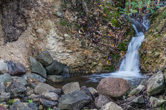 Angel hair waterfall. A small but beautiful waterfall in the wine county area Stock Photo