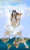 Angel. Hand drawn illustration. Royalty Free Stock Photography