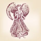 Angel hand drawn Royalty Free Stock Photos